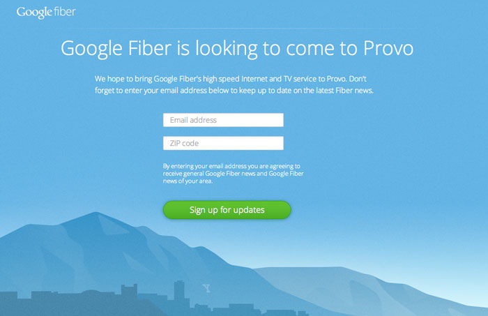 Google-Fiber-Provo-Signup-page