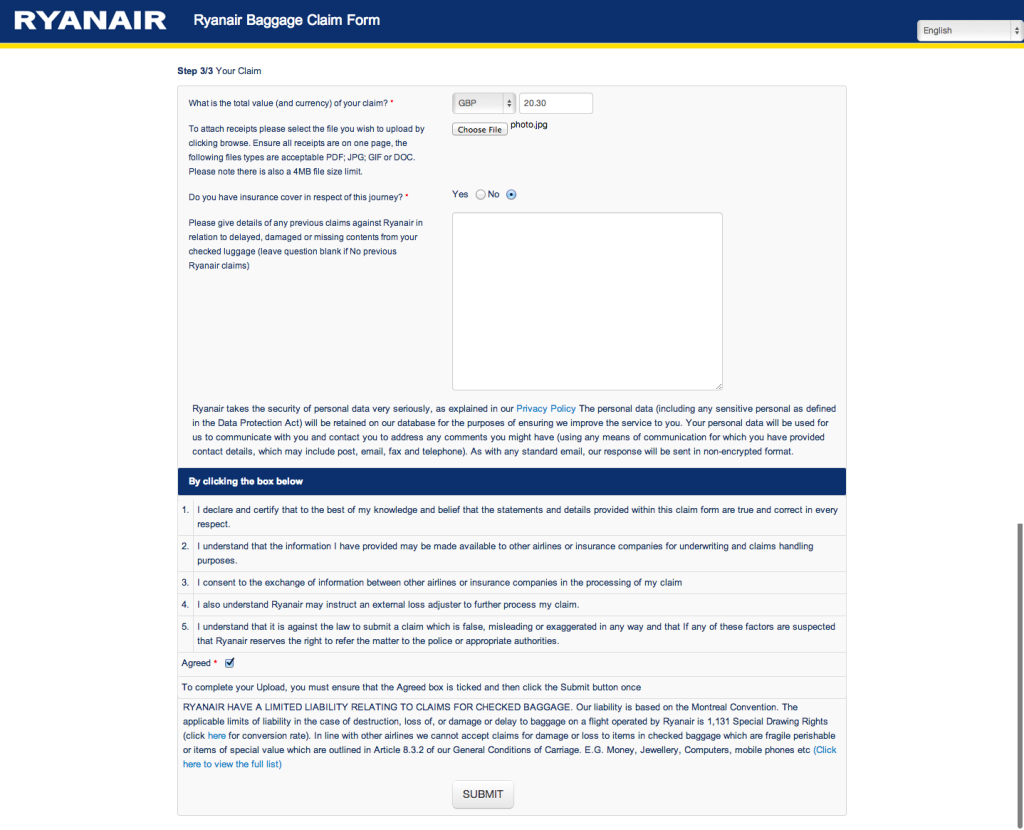 Complaint letter for lost luggage vatozozdevelopment complaint spiritdancerdesigns Choice Image