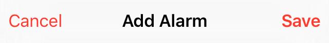add alarm